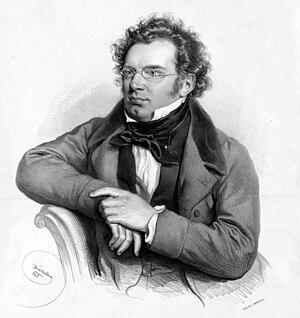 Ständchen, D 920 (Schubert) - Posthumous lithograph of Franz Schubert by Joseph Kriehuber