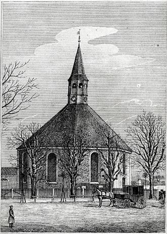 Frederiksberg Church - Frederiksberg Church in 1864ch