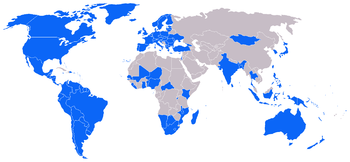 Countries highlighted in blue are designated &...