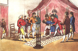 History of Freemasonry - Third degree ceremony, Paris, 1745, retinted in 1812 to resemble a Moderns Lodge in London