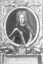 Friedrich IV of Schleswig-Holstein-Gottorf, copper engraving by Pieter van Gunst after a painting by Ludwig Weyandt