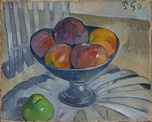 Fruit Dish on a Garden Chair