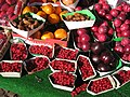 Fruit and berries in market - Paris, France.JPG