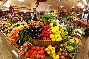 Fruits et légumes aux Halles
