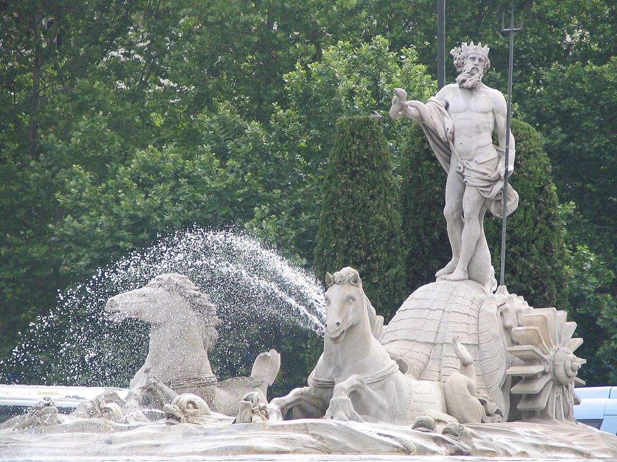 Fontana di nettuno madrid wikipedia - Fuentes de piedra antiguas ...