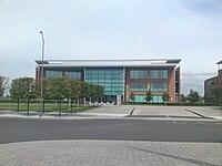 Gli uffici Fujitsu che attualmente occupano il sito dello stadio