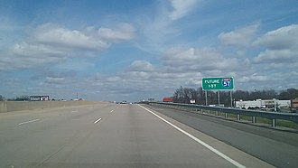Interstate 57 - Future Interstate 57 in North Little Rock.