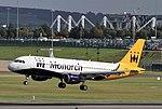 G-ZBAR A320 Monarch BHX 29-09-2016 (29852559953).jpg