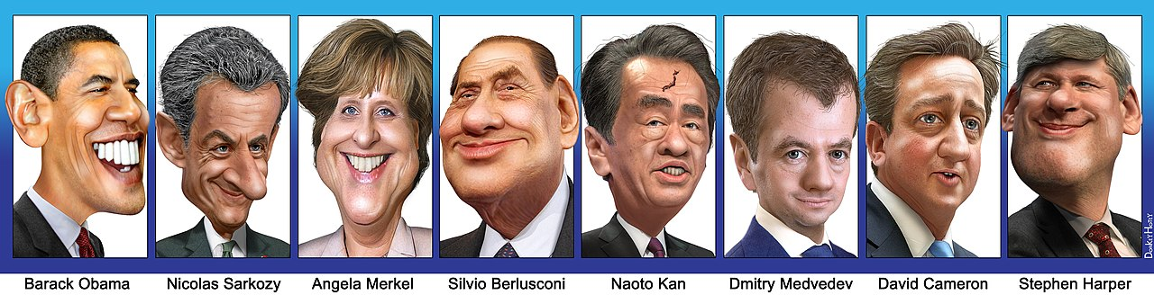 G8 leaders caricatures 20110523.jpg