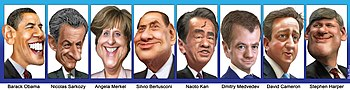 G8 leaders caricatures 20110523