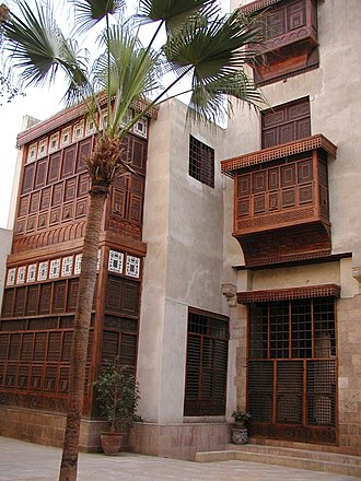 Islamic Cairo - A typical House with Mashrabiya in Islamic Cairo.