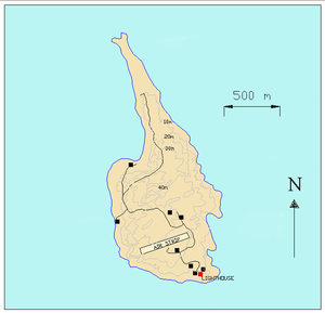 Gabo Island - Image: Gabomap 1