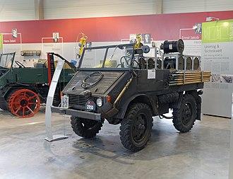 Unimog 2010 - A Swiss army Unimog 2010 in the Unimog museum in Gaggenau