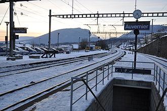 Auvernier - Auvernier train station