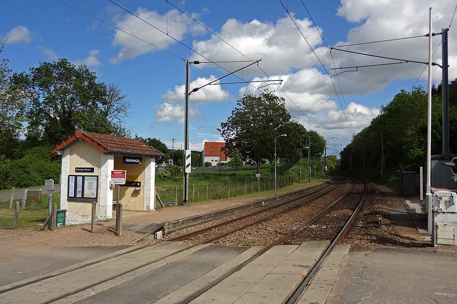 Tronsanges station, France