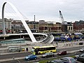 Gateshead Millennium Bridge during removal of Vessel Collision Protection System - geograph.org.uk - 2806960.jpg