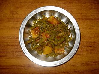Guar - Gawar Phali With Aaloo (Guar Bean With Potatoes) (India).