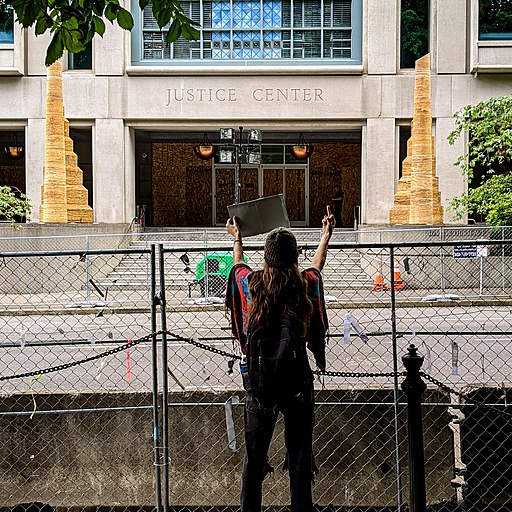 George Floyd police brutality protests - Portland Oregon - tedder - 20200610-016