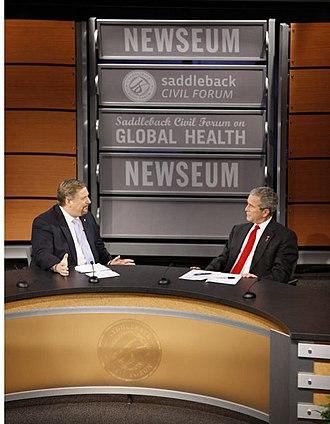 Rick Warren - Warren with President George W. Bush in 2008