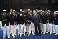 George W. Bush with US Olympic Team prior to 2008 Summer Olympics opening ceremony 3.jpg