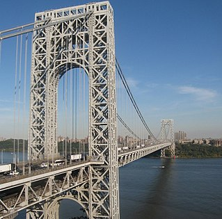 George Washington Bridge Suspension bridge crossing the Hudson River between Fort Lee, New Jersey and Manhattan, New York