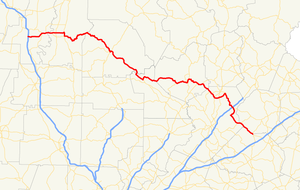 Georgia State Route 52 - Image: Georgia state route 52 map