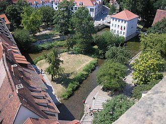 Krämerbrücke - Image: Gera an der Krämerbrücke