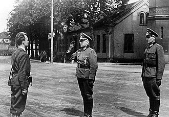 Norwegian resistance movement - The German surrender of Akershus Fortress to Terje Rollem on 11 May 1945.