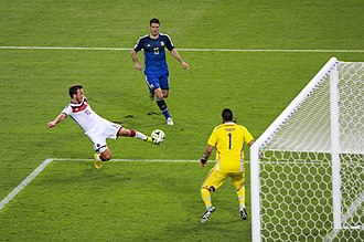2014 FIFA World Cup Final - Germany's Mario Götze scores the match-winning goal in the 113th minute