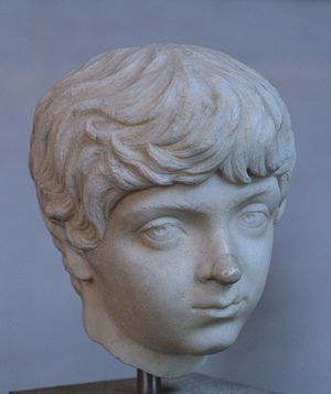 Head of Geta boy, son of Septimius Serverus, c...