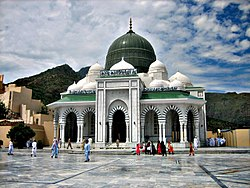 Kohat's Ghomkol Sharif shrine is associated with the Naqshbandi order of Sufism.
