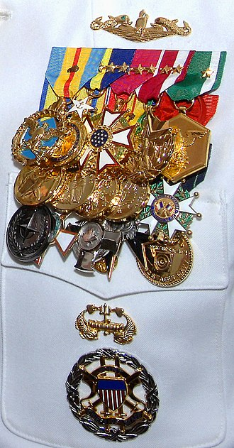 Edmund Giambastiani - Giambastiani's medals as of July 27, 2007.
