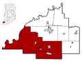 Gibson County Indiana Incorporated and school areas South Gibson School District.PNG