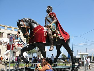 Giant - Giants Mata and Grifone celebrated in Messina in August, Sicily