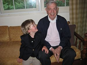 F. Gilman Spencer - Mr. Spencer visiting with his grandson