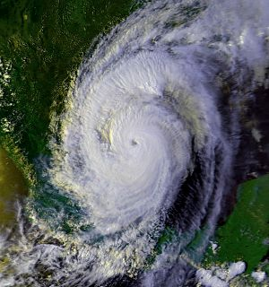 Hurricane Gilbert - Hurricane Gilbert making landfall in Mexico on September 16.