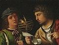 Giorgione (attr.), giovanni borgherini e il suo tutore.jpg