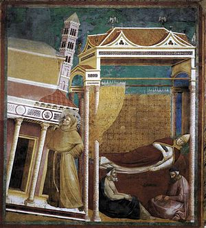 Giotto di Bondone - Legend of St Francis - 6. Dream of Innocent III - WGA09125.jpg