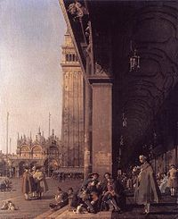 Giovanni Antonio Canal, il Canaletto - Piazza San Marco - Looking East from the South West Corner - WGA03963.jpg