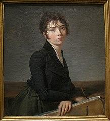 Portrait of a Girl with Portfolio