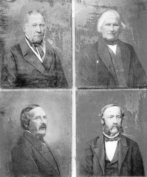 Adam Hiorth - The founders of Nydalens Compagnie. Hiorth on the bottom left.