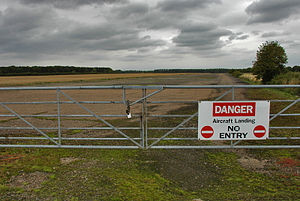 Peterborough Business Airport - Image: Glatton Runway 16
