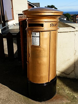 Great Britain at the 2012 Summer Olympics - A post box in each of the gold medallists' home towns was painted gold by Royal Mail to celebrate their success