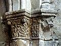 Gournay-en-Bray (76), collégiale St-Hildevert, chœur, 3e grande arcade du nord, chapiteaux côté est 2.jpg