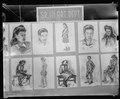 Granada Relocation Center, Amache, Colorado. Charcoal sketches drawn by art students in the Senior . . . - NARA - 539295.tif