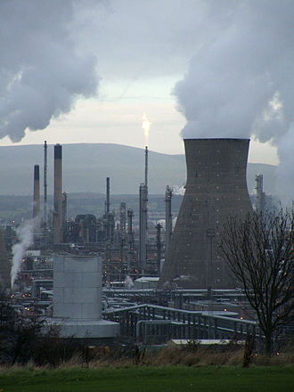 Oil refinery - A petrochemical refinery in Grangemouth, Scotland.