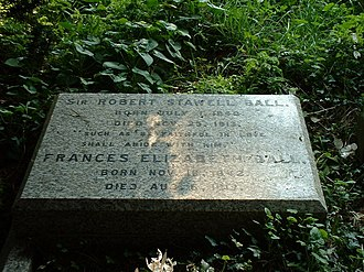 Ascension Parish Burial Ground - Grave of Sir Robert Stawell Ball and wife Lady Frances Elizabeth Ball.