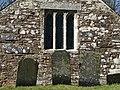 Gravestones, Church of St Winwallo, Tremaine - geograph.org.uk - 722394.jpg