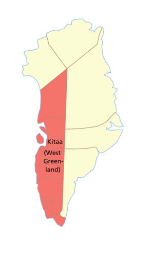 Kitaa - Map of West Greenland