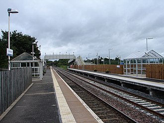 Gretna Green railway station - The 1993 station, looking east